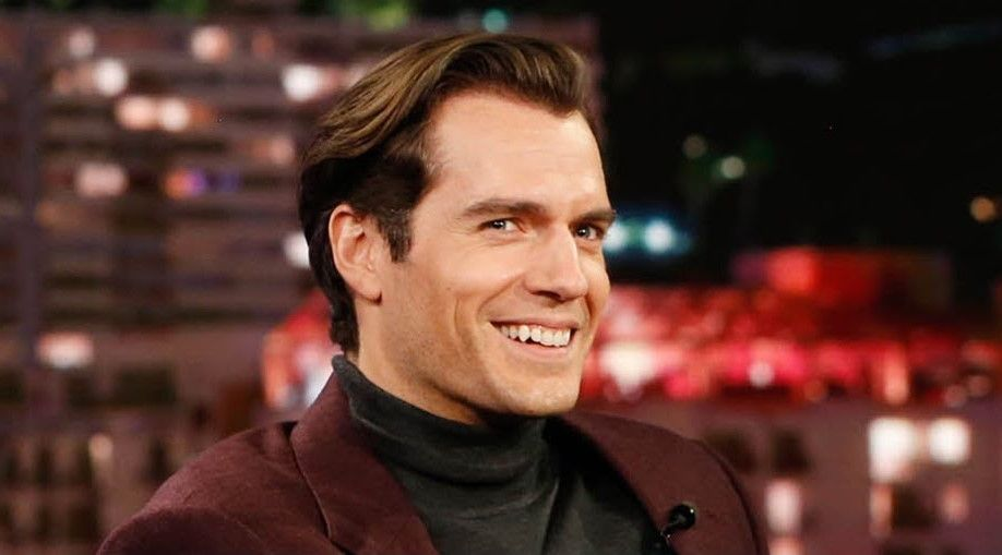 Henry Cavill shows off a Witcher fight scene on Jimmy Kimmel
