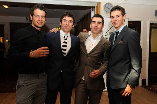 Adam Blythe, Dean Downing, Russell Downing and Ben Swift, Downings' Out of the Saddle charity night 2009