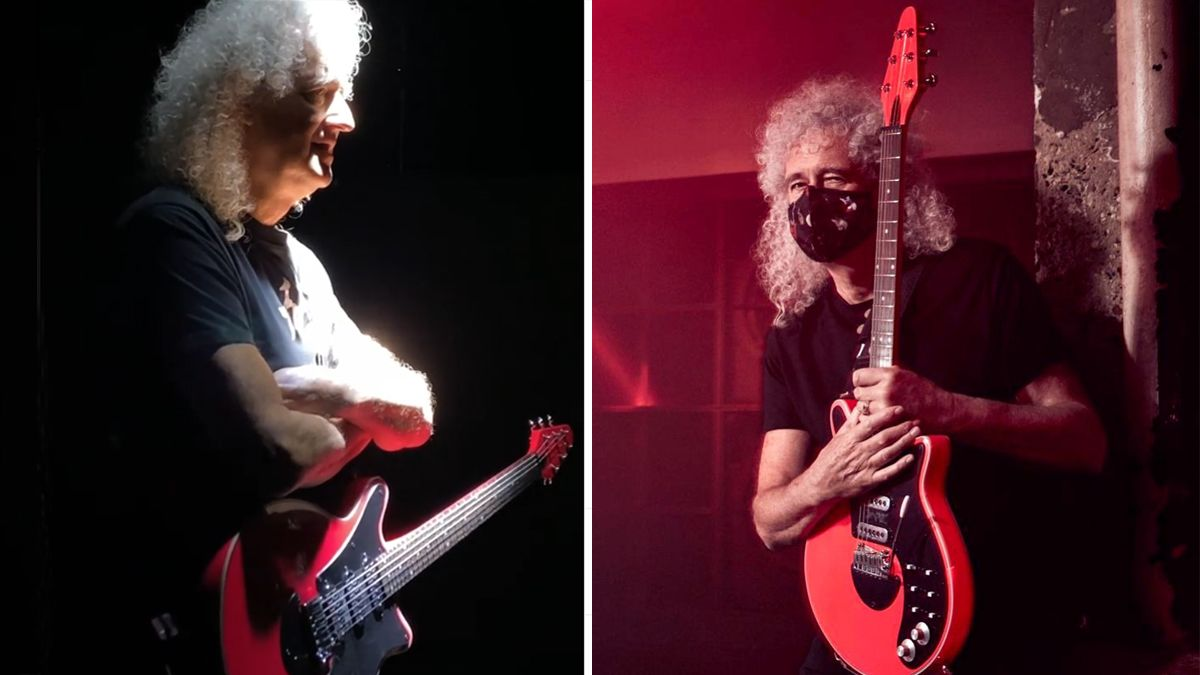 """Brian May unveils Red Special guitar finished in the """"World's Pinkest Pink"""""""