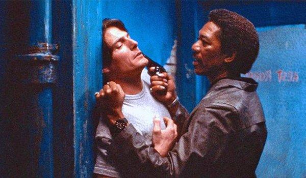 Christopher Reeve and Morgan Freeman in Street Smart