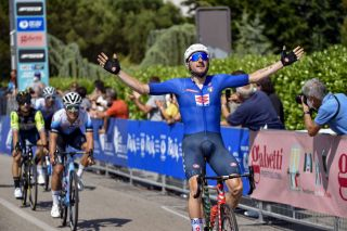 Elia Viviani (Italy) wins the opening stage of the Adriatica Ionica Race