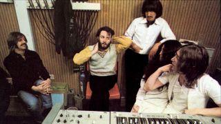 The Beatles in the studio in 1969