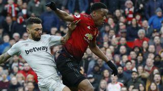Anthony Martial Manchester United West Ham United
