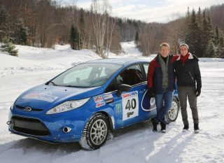 Barney and Bradley rally driving in Bradley Walsh & Son: Breaking Dad
