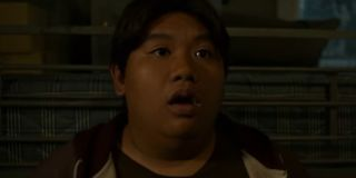 Ned Leeds looking stunned after finding out Peter Parker's secret identity in Spider-Man: Homecoming
