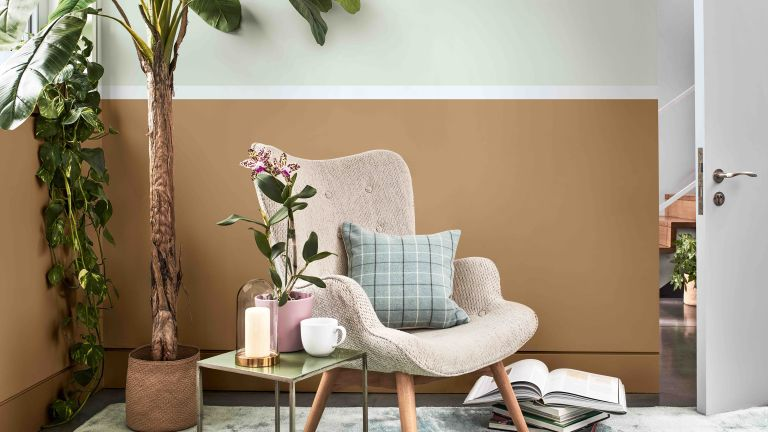 DULUX Colour Of The Year 2020 Tranquil Dawn reading nook idea