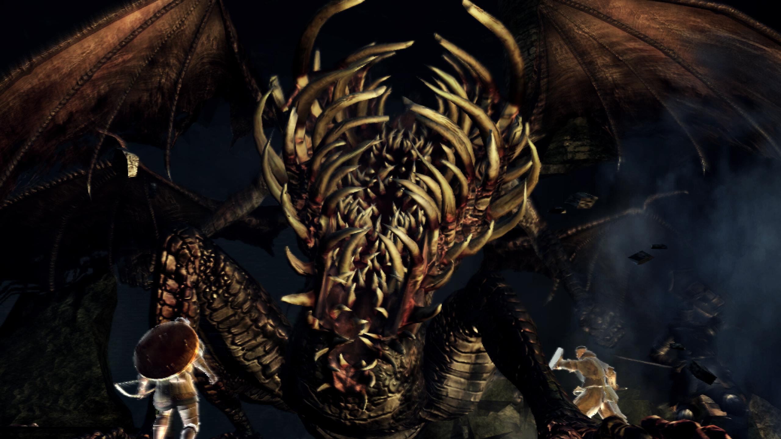 Dark Souls Gaping Dragon boss intro