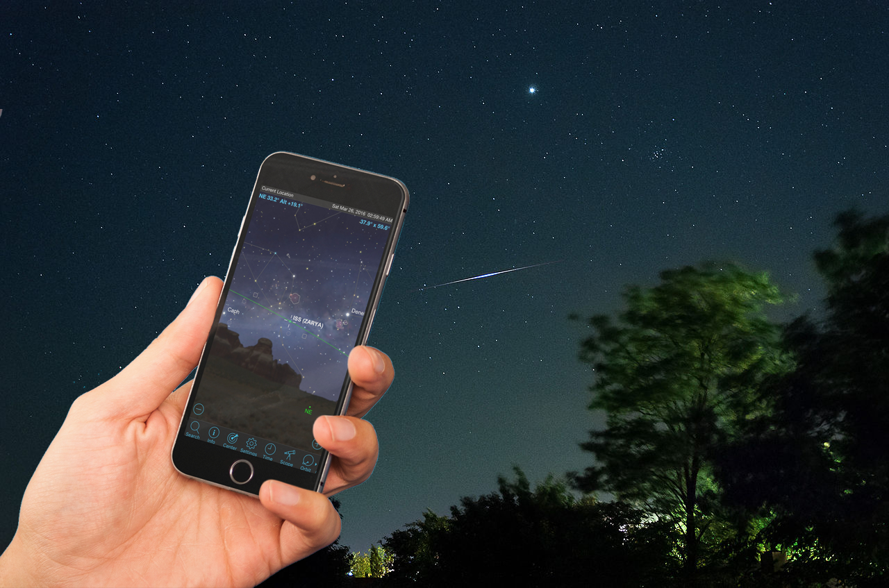 How to Use Mobile Apps to Spot the Space Station and Iridium Flares