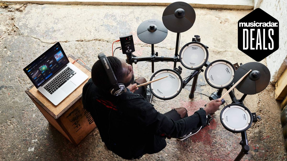 Save $50 off the Roland TD-1DMK, one of our highest rated beginner electronic drum sets
