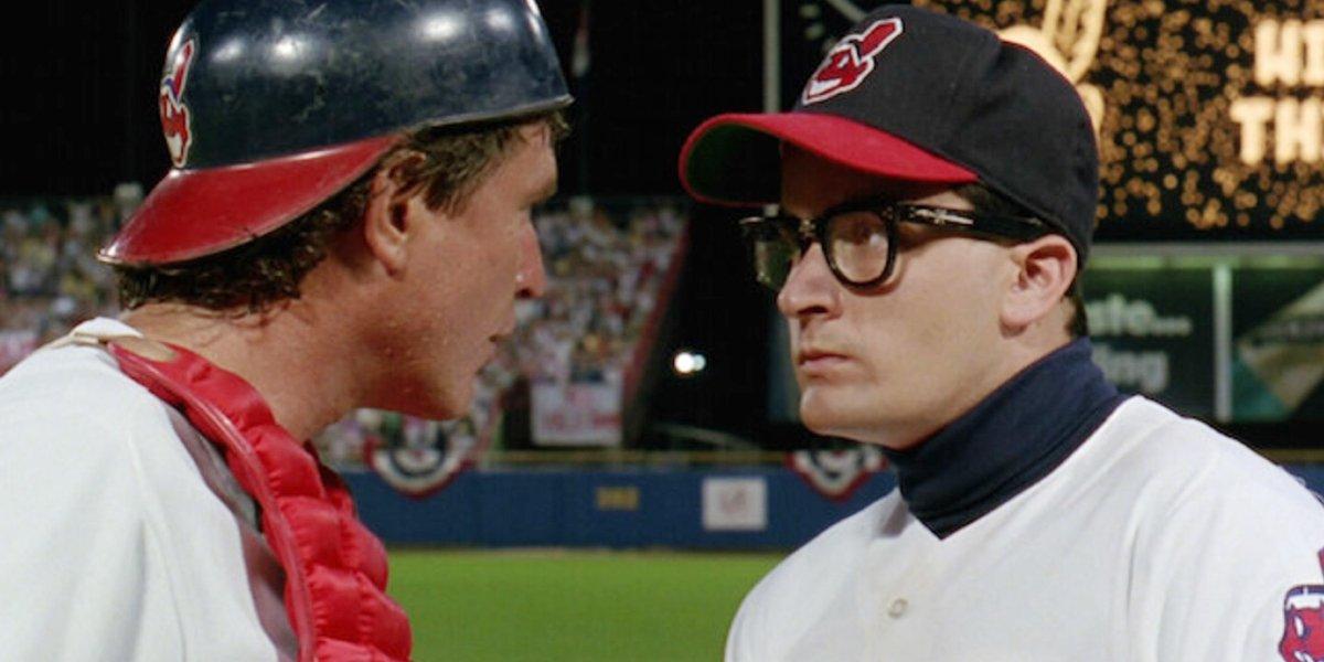 Tom Berenger and Charlie Sheen in Major League