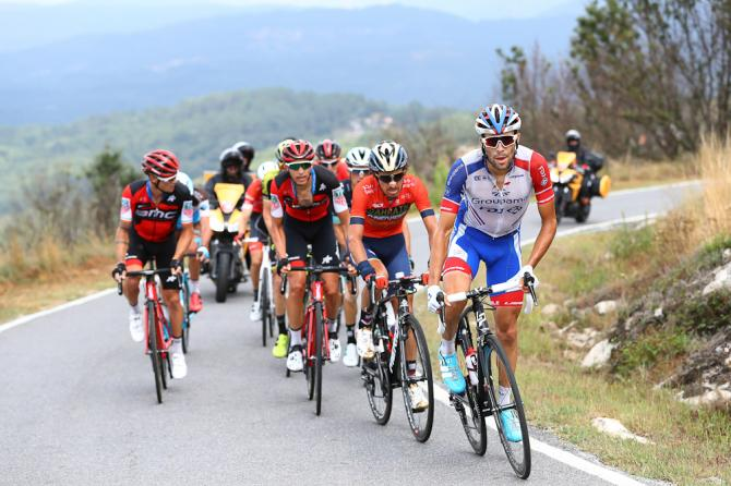Thibot Pinot tried his luck in the day's breakaway during stage 11 at the Vuelta