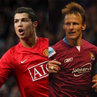 Cristiano Ronaldo and Teddy Sheringham