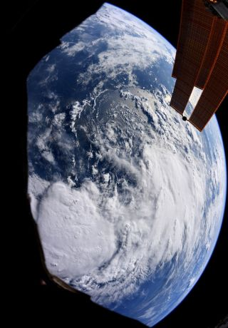NASA astronaut Christina Koch captured this image of tropical storm Barry and shared it on Twitter on July 11, 2019.