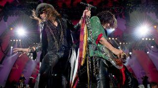 Aerosmith live on stage