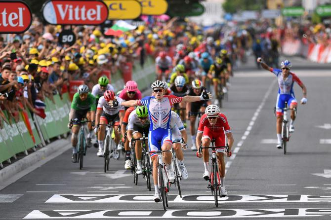 Arnaud Demare wins stage 18 at the Tour de France