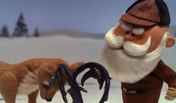 Donner and Santa Rudolph The Red-Nosed Reindeer