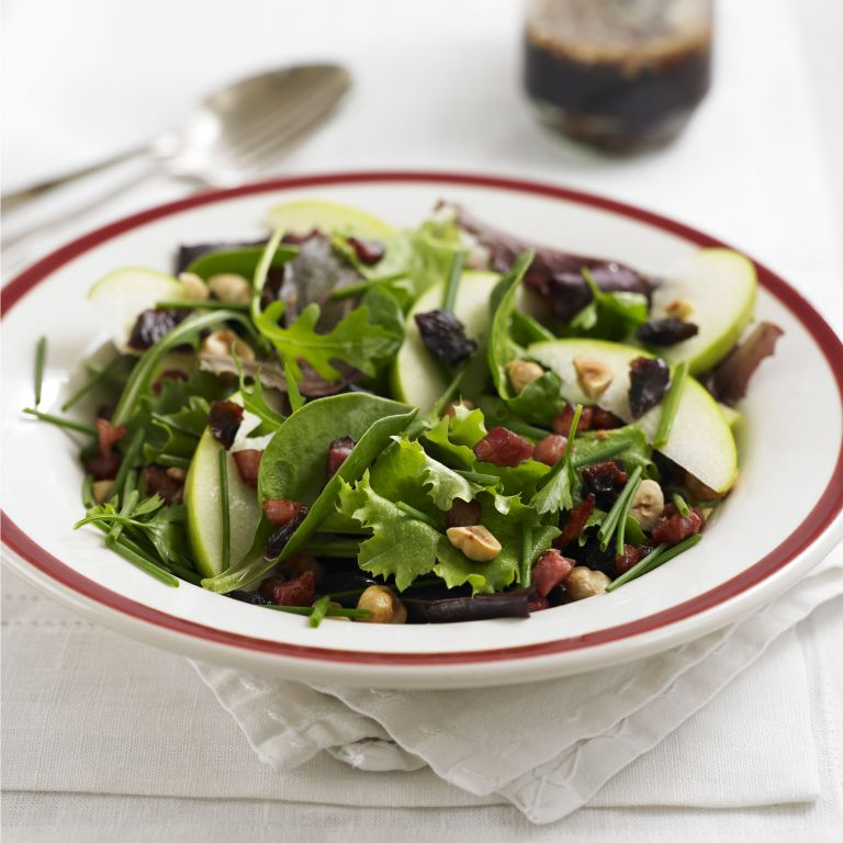 Pancetta and Hazelnut Salad with warm balsamic dressing recipe-recipes-recipe ideas-woman and home