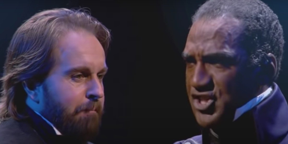 Alfie Boe and Norm Lewis in Les Miserables in Concert