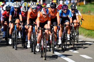 Anna van der Breggen races in support of the Dutch team at the UCI Road World Championships in Flanders