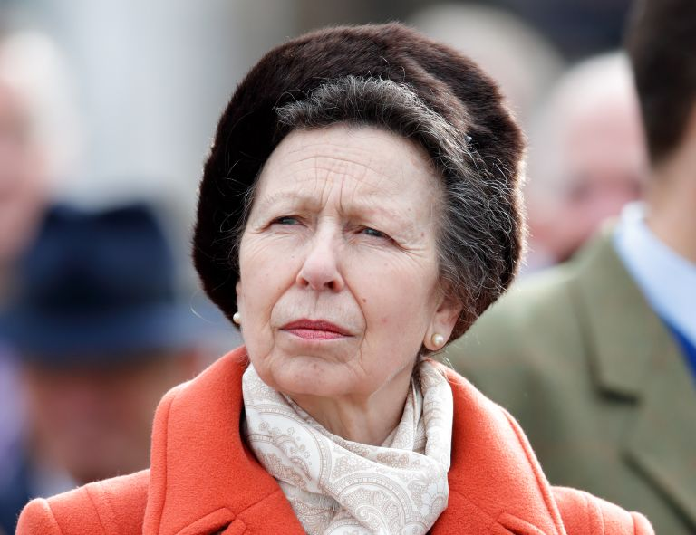 Princess Anne, Princess Royal attends day 1 'Champion Day' of the Cheltenham Festival 2020 at Cheltenham Racecourse on March 10, 2020 in Cheltenham, England