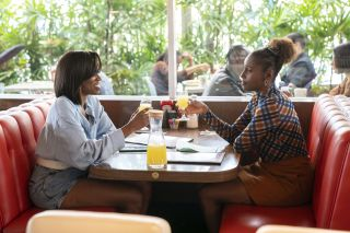 Yvonne Orji and Issa Rae in HBO's 'Insecure'