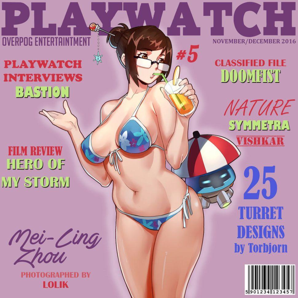 The Overwatch Playboy parody Playwatch Magazine has been