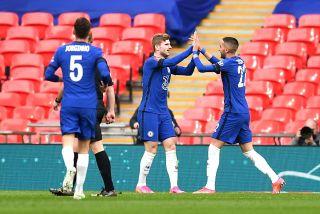 Hakim Ziyech celebrates his goal with teammates