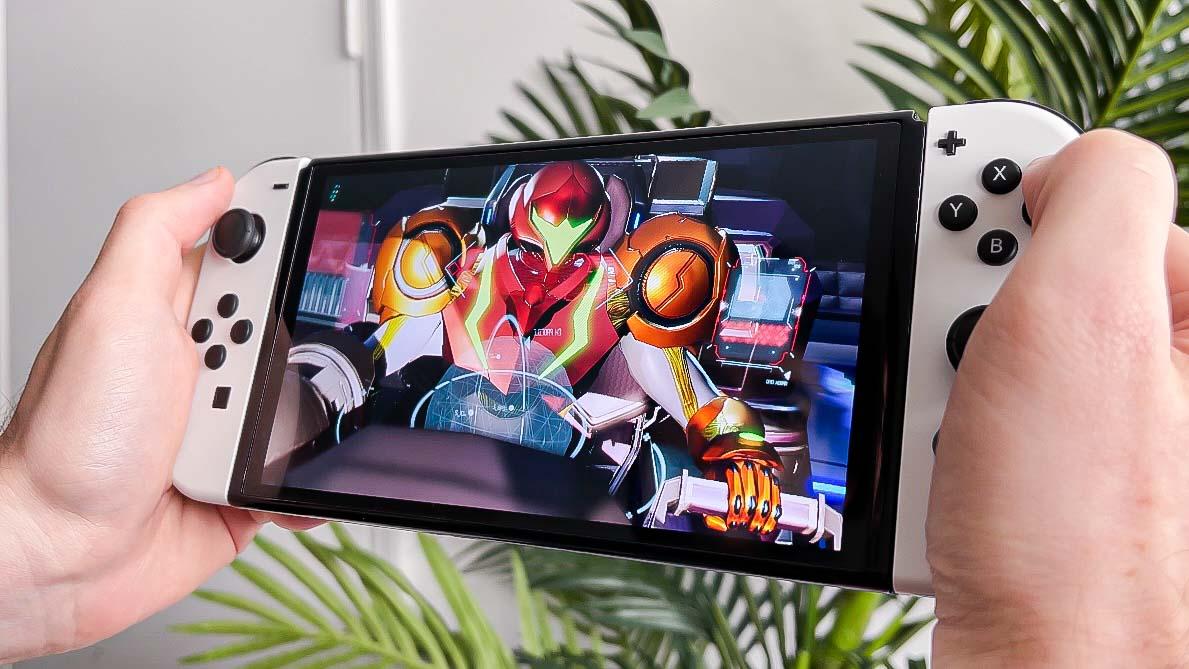 Nintendo switch oledn handheld display