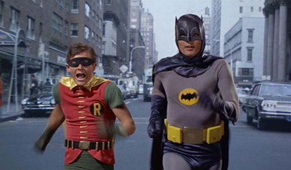 Batman: The Movie Batman Robin running the streets