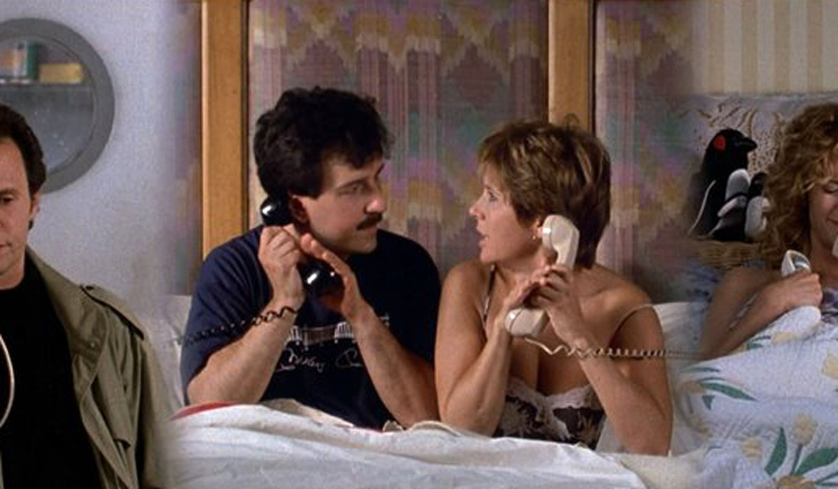When Harry Met Sally... four way phone call Bruno Kirby Carrie Fisher