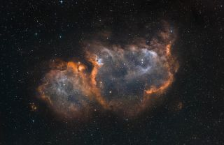 Image of the Soul Nebula in the constellation Cassiopeia.