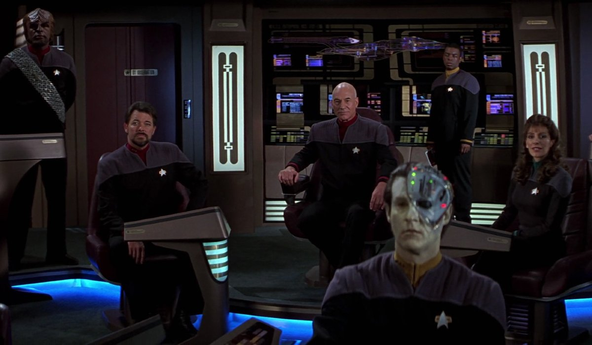 Star Trek: First Contact the Enterprise crew, ready to go home