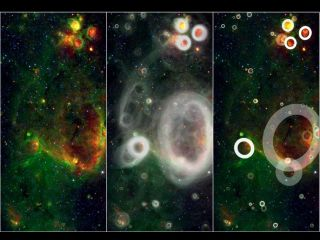 "A team of volunteers pored over observations from NASA's Spitzer Space Telescope and discovered more than 5,000 ""bubbles"" in the disk of our Milky Way galaxy."