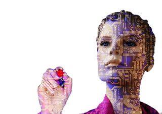 a robotic woman