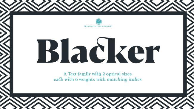 Font blacker