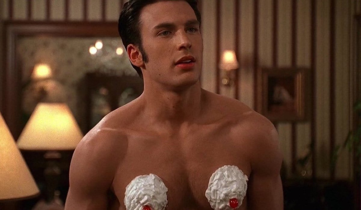 Not Another Teen Movie Chris Evans with whipped cream features