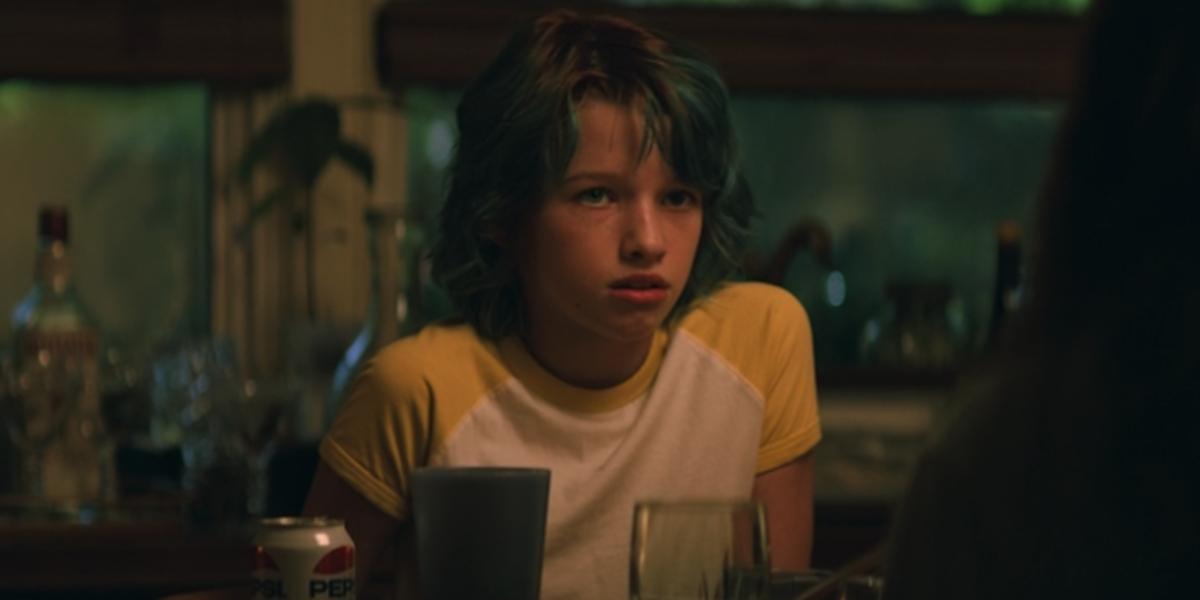 Young Black Widow / Natasha Romanoff in the beginning of the movie