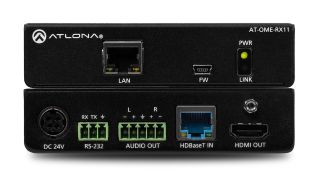 Atlona has unveiled the AT-OME-RX11 4K/UHD HDBaseT receiver with audio de-embedding capabilities.
