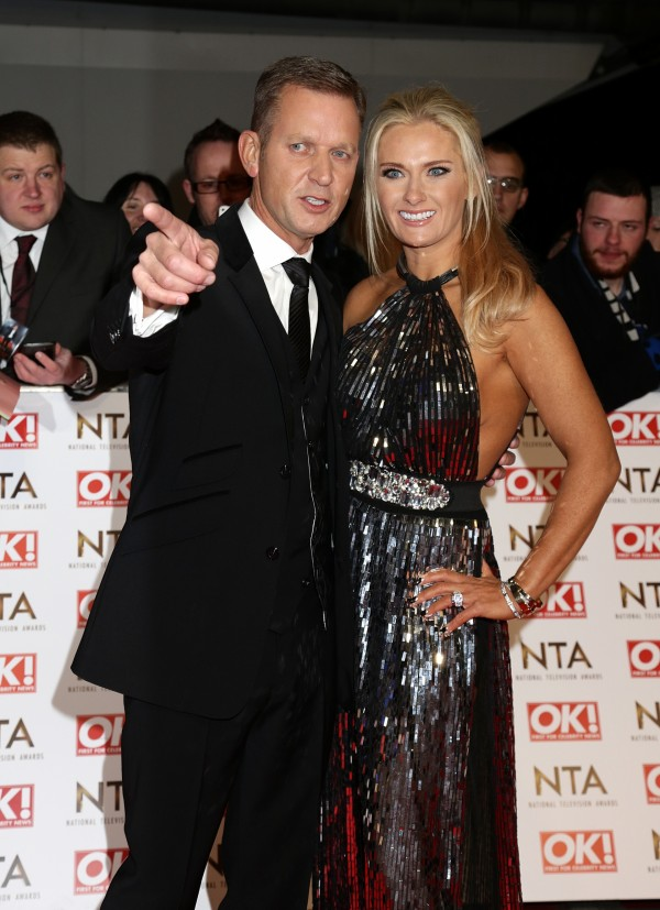 Jeremy Kyle and wife Kirsty Rowley at the National Television Awards