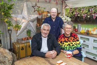 The Great Celebrity Bake Off 2021 team – Paul Hollywood, Prue Leith and Matt Lucas.