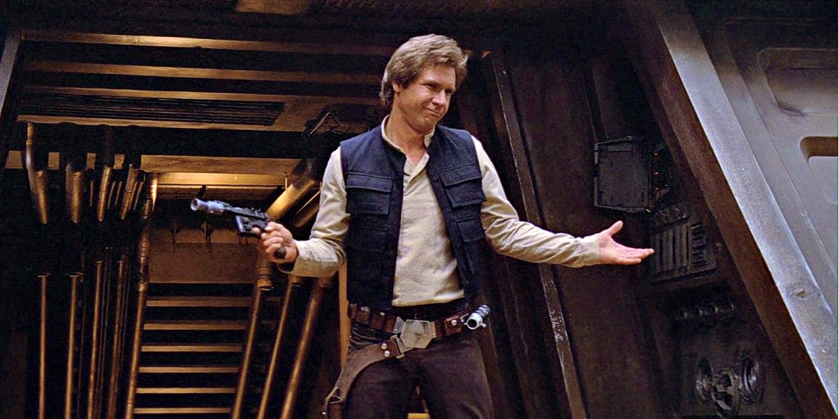 Harrison Ford as Han Solo in Return of the Jedi