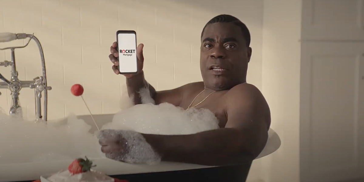 tracy morgan in bathtub rocket mortgage