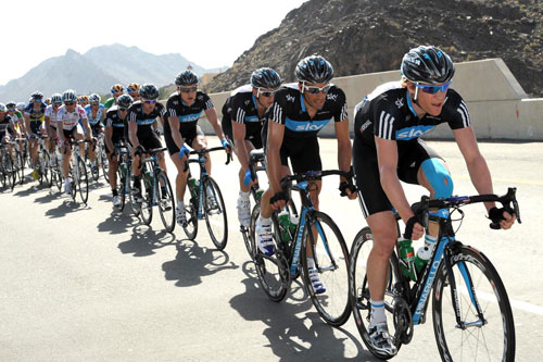 Team Sky lead, Tour of Oman 2010, stage four