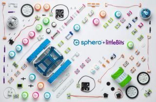 Parts from Sphero and little bits kits