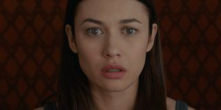 The Room Olga Kurylenko showing a face of absolute shock