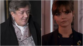 Stephen Fry and Jenna Coleman