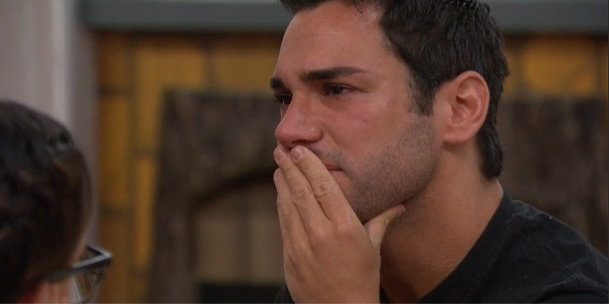 Big Brother 21 Week 11 Tommy crying as target CBS