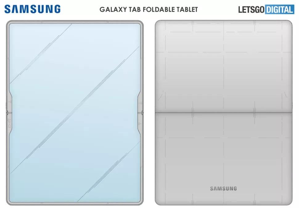 Samsung Galaxy Z Fold Tab design