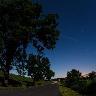 International Space Station Streaks Overhead