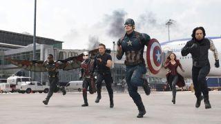 Chris Evans leads the gang in Captain America: Civil War.